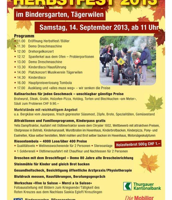 Herbstfest 2013 im Zentrum Bindersgarten