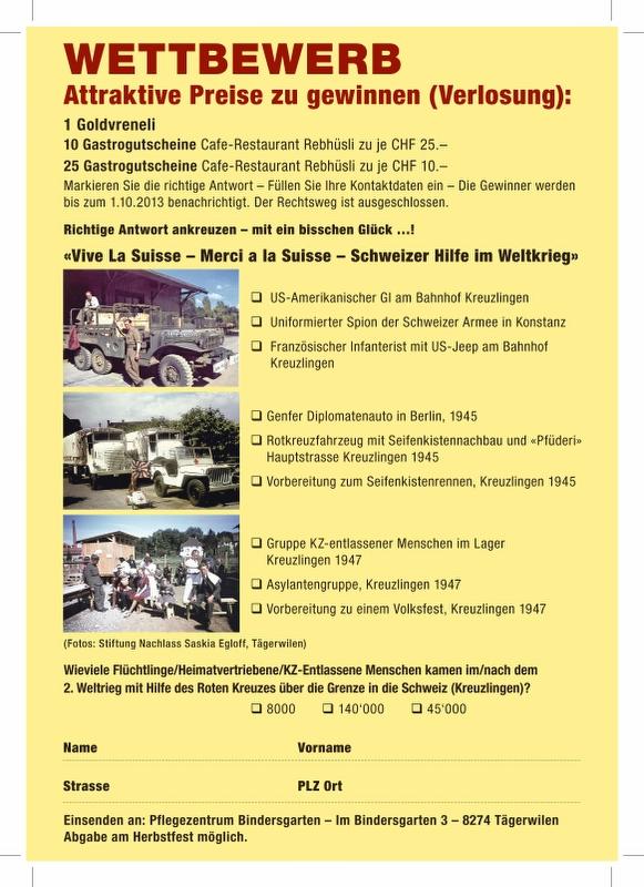Herbstfest 2013, Wettbewerb