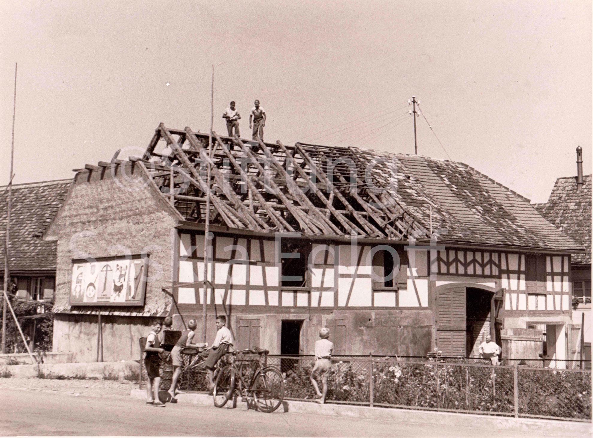 Heizbach Scheune vor dem Abriss - Hauptstrasse