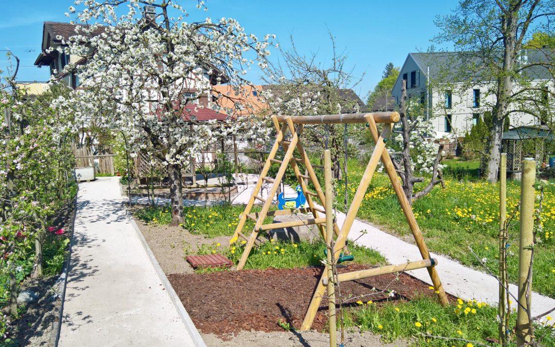 Einen Spielplatz und neue Gehwege im Bindersgarten