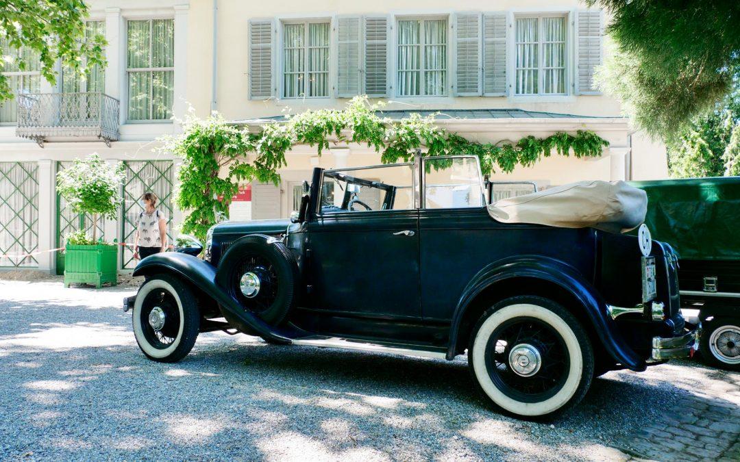 "Ausflug mit dem Bindersgarten Oldtimer ""Chrysler Six"" zum Napoleonmuseum ""Schloss Arenenberg"""
